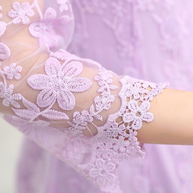 2016春季新款女士清新可爱公主裙时尚欧根纱裙子气质优雅刺绣印花