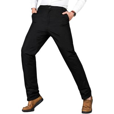 中老年羽絨褲男士高腰內外穿加厚大碼老人羽絨褲爸爸羽絨保暖長褲 TCVV