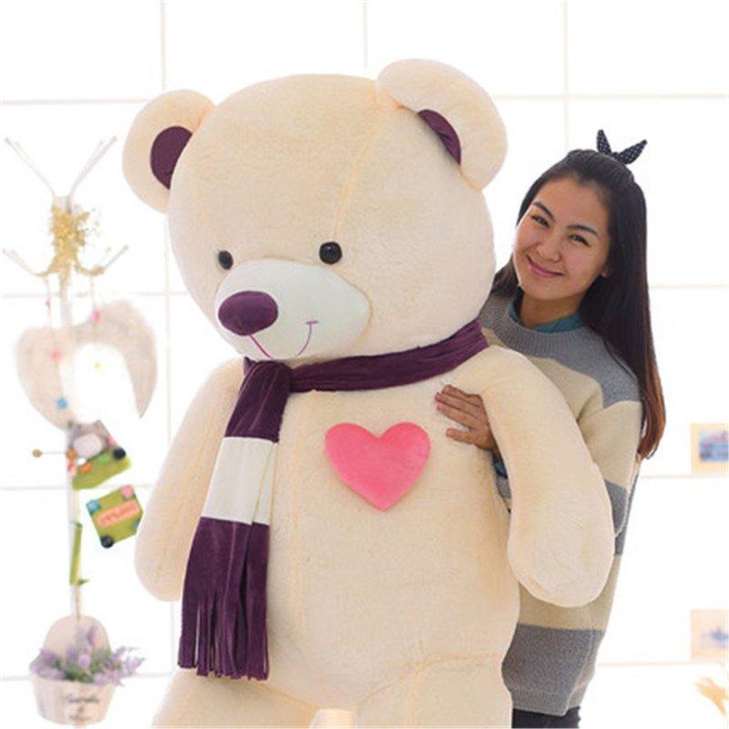 泰迪熊公仔心动围巾抱抱熊毛绒玩具可爱娃娃玩偶生日礼物女