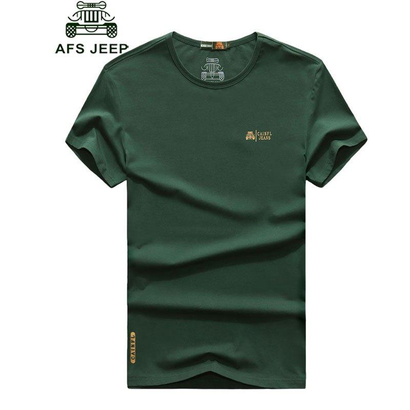 2017战地吉普夏季男士短袖t恤袖标棉质大码圆领体恤半袖宽松打底汗衫