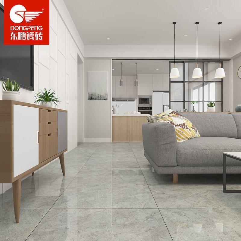 东鹏瓷砖 云多拉灰 灰色地板砖客厅瓷砖通体大理石地板砖800x800背景