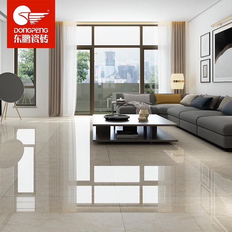 东鹏瓷砖 香格娜米黄 通体大理石地砖客厅卧室防滑地板砖简约现代背景