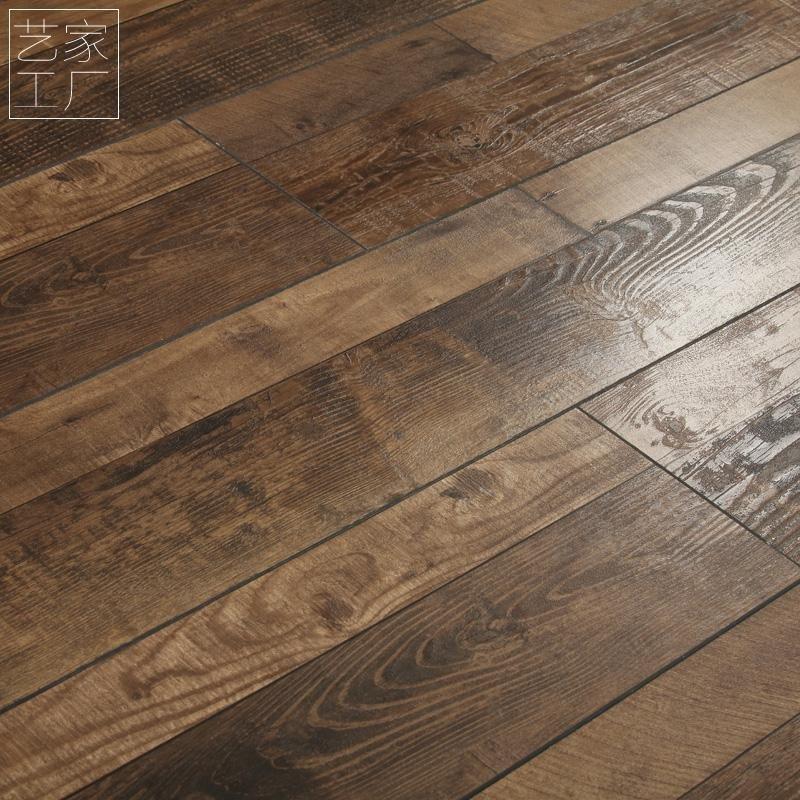 红杉树 子母拼双拼腐朽木地板仿古做旧12mm地板个性强化地板复合木
