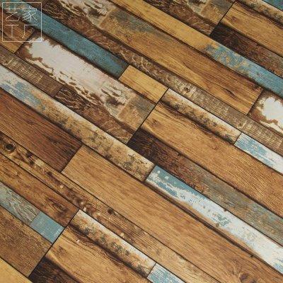 12mm强化复合木地板彩色做旧复古个性仿古