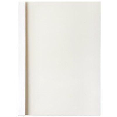 得力deli3867装订封面热熔装订机封套塑料封套A4胶装透明封面纸质封皮办公文件装订可用A4/6mm(36-50页)