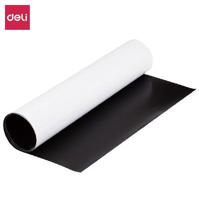 得力deli8717白板墻貼軟白板自粘背膠兒童白板紙掛式辦公家用鐵性吸磁白板帶膠