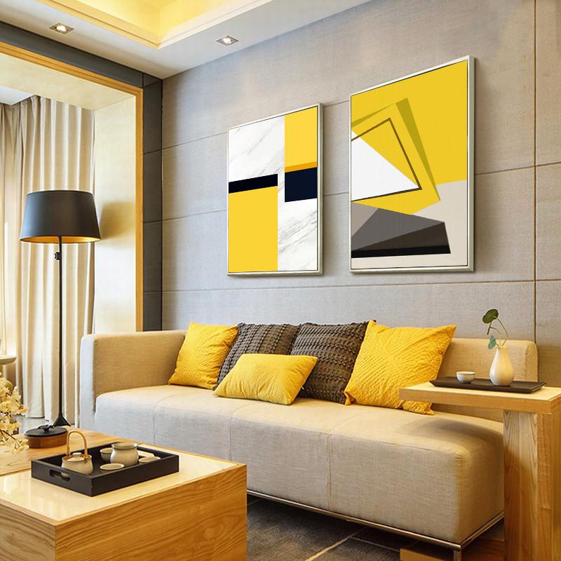 北欧客厅装饰画现代简约沙发背景墙玄关挂画房间墙壁装饰抽象壁画图片