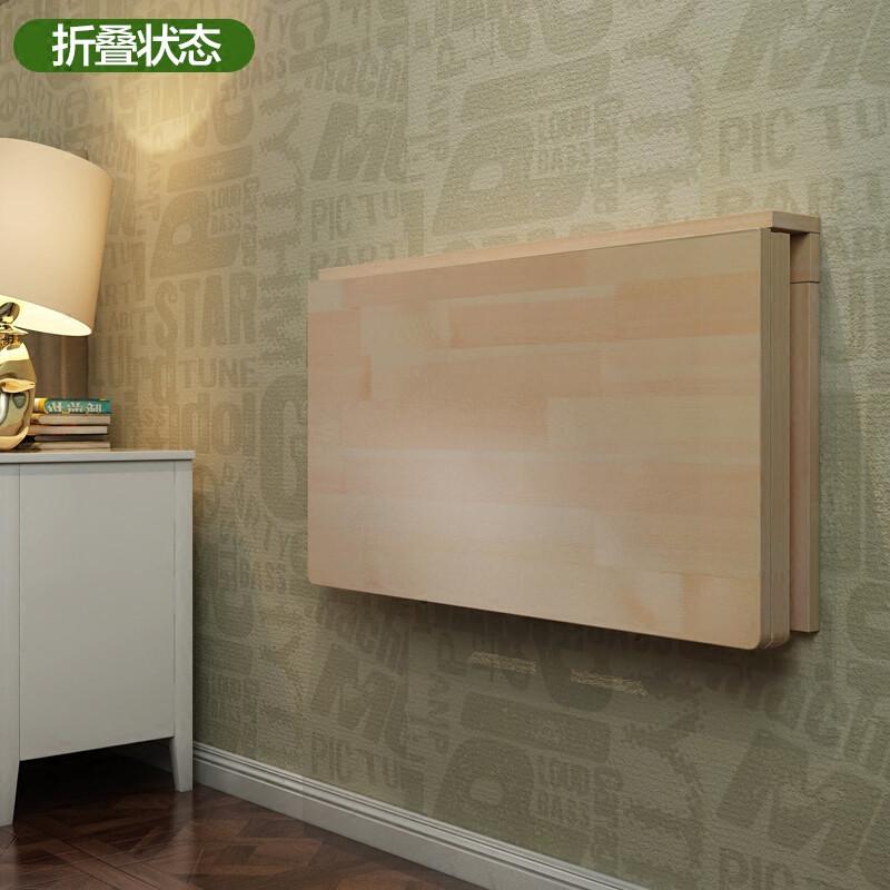 赛森实木墙桌壁挂桌折叠桌餐桌靠墙电脑桌学习桌书桌墙壁桌可折叠图片