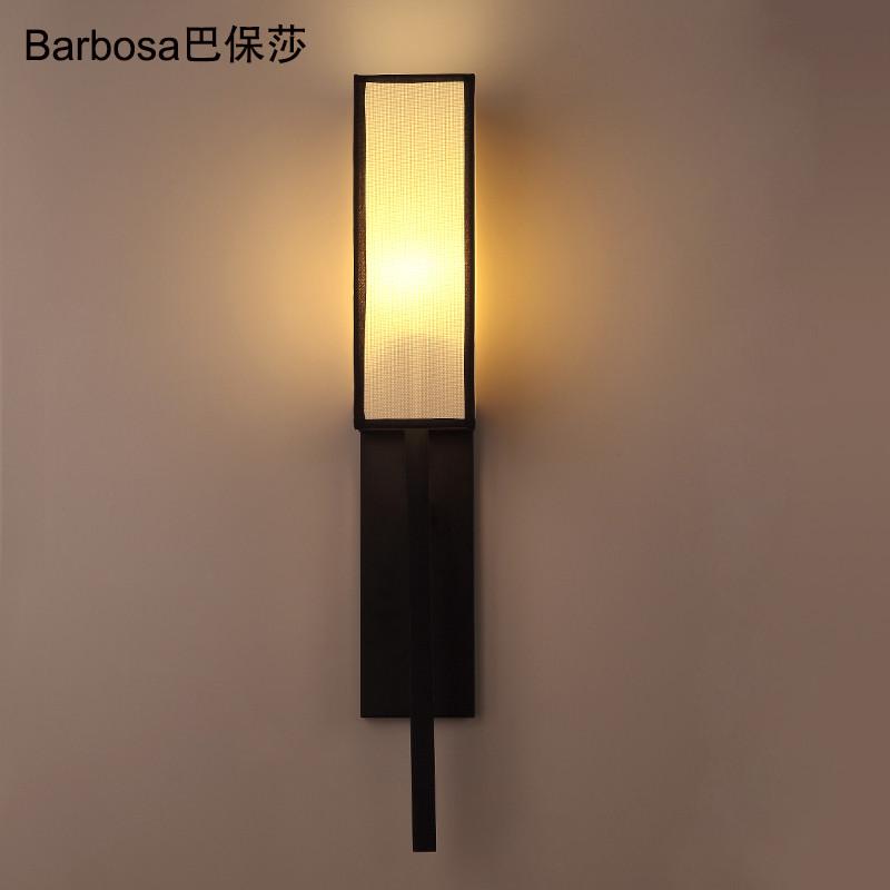 巴保莎现代新中式壁灯古典简约卧室床头灯酒店客房走廊过道灯楼梯客厅