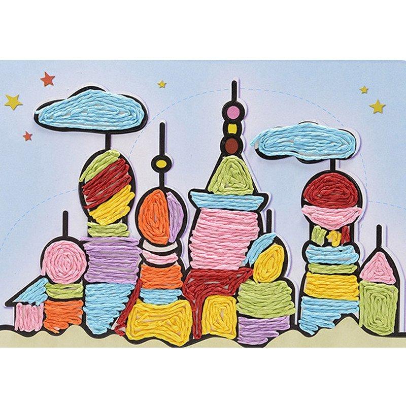 小皇帝儿童创意艺术绳画b款升级版套装 幼儿园宝宝手工diy玩具 0.