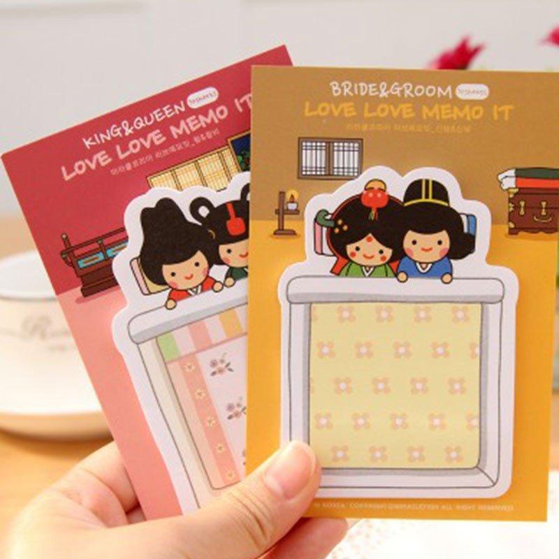 惠客 韩国文具 可爱娃娃便签本 便利贴 n次贴 jb-007