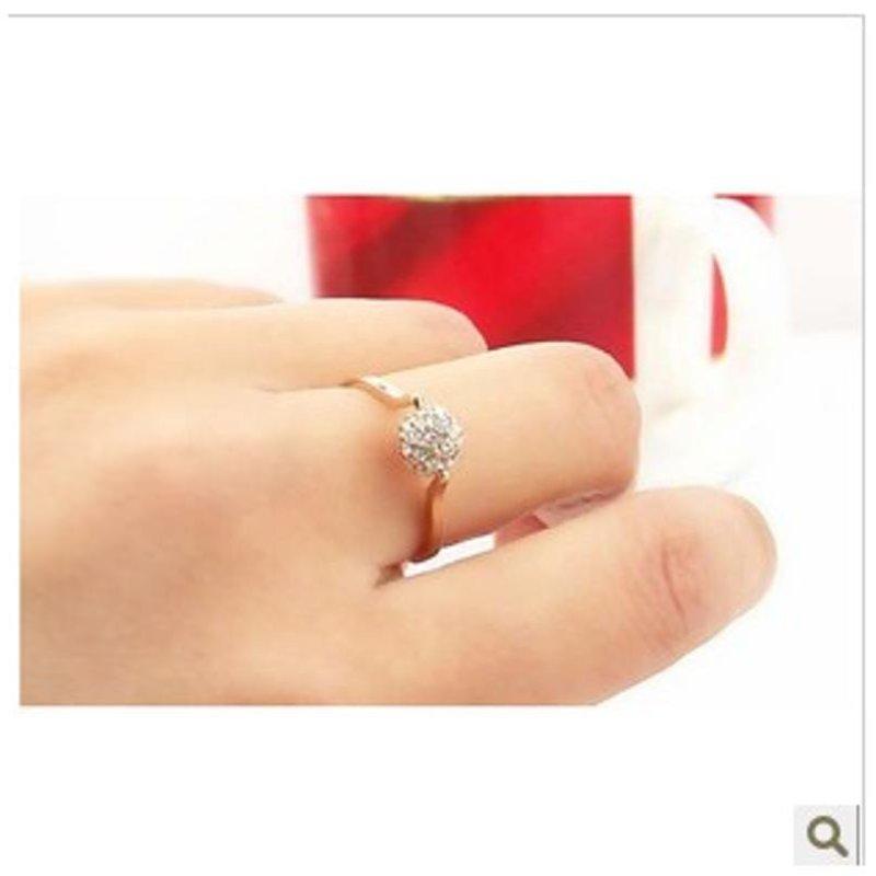 炫酷豆 镶钻转运珠幸运球水晶戒指环 外贸原单