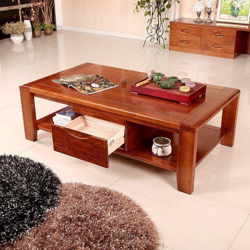 创未家具 实木茶几水曲柳 简约现代中式客厅组合实木茶几茶桌a19