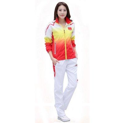 运动服套装 男女出场服 出场服奥运会冠军领奖服 8033女中国红 xxl图片