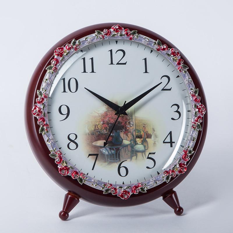 钟表座钟欧式台钟客厅静音欧式实木卧室桌面立式坐钟居家电视柜上石英