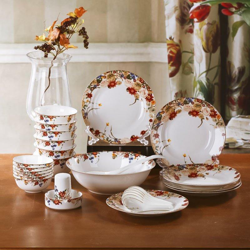 八友bayou 陶瓷餐具套装 景德镇高档骨瓷 碗盘碗碟套装 骨瓷餐具 梦图片