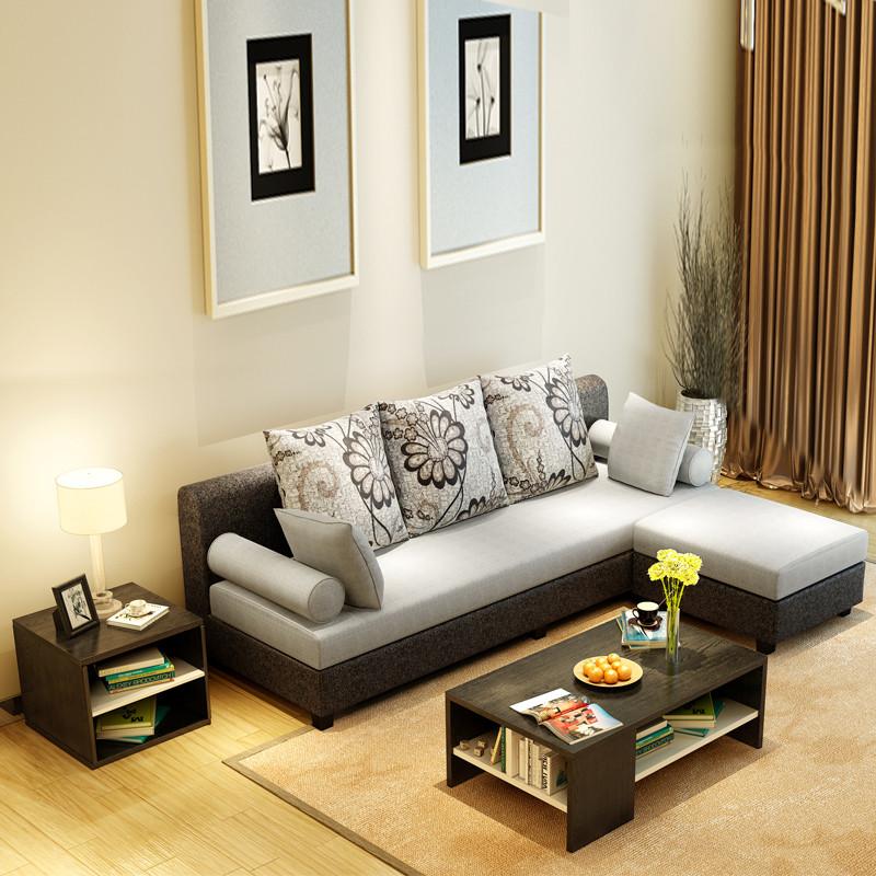 艾窝窝 边几茶桌小桌储物几矮几 简约现代板式茶几 客厅家具 原木色图片