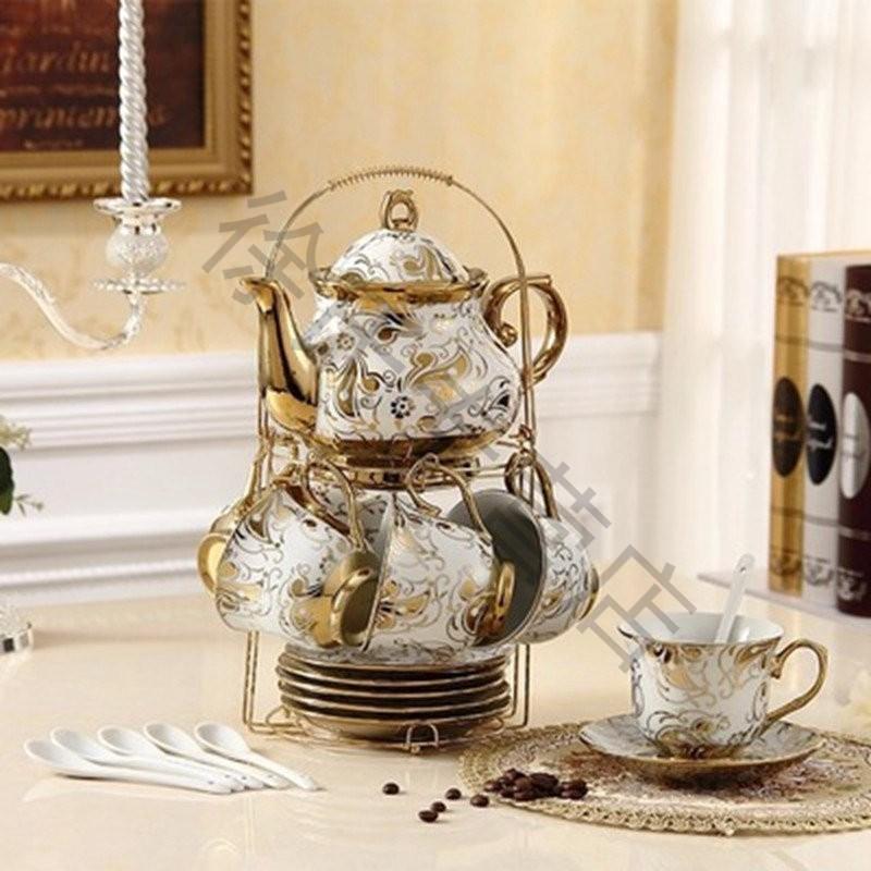 咖啡杯欧式茶具咖啡具6杯6碟带壶套装骨瓷英式下午茶红茶具套装陶图片