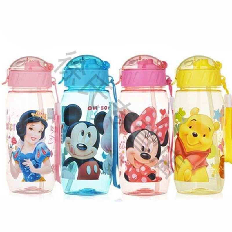 儿童吸管水杯便携塑料杯可爱夏季水壶男女学生卡通防漏杯子