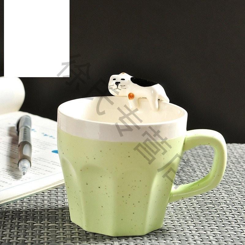 卡通创意立体萌物咖啡杯动物陶瓷杯可爱马克杯水杯情侣杯子