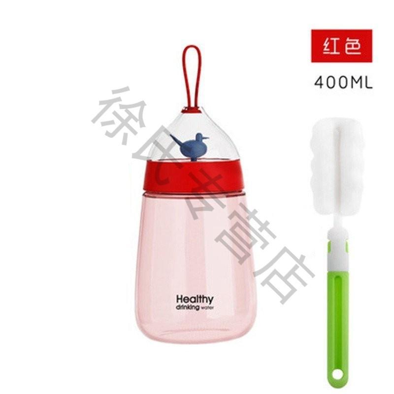 创意便携学生随手杯可爱塑料杯韩国韩版防漏带盖水瓶男女夏季水杯