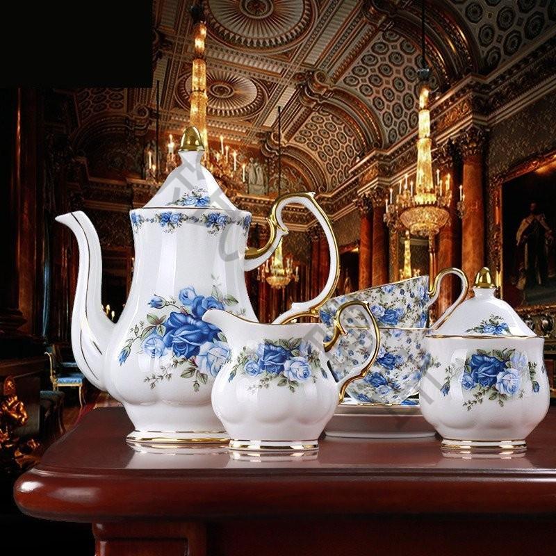 大润窑 欧式茶具套装 骨瓷咖啡杯套装 陶瓷咖啡具 下午茶英式茶具图片