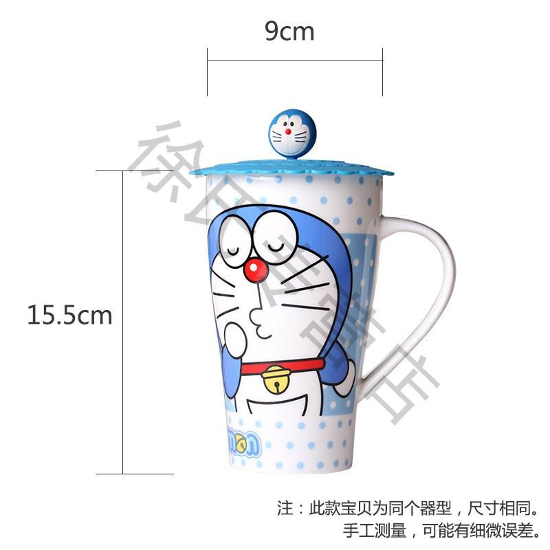 带盖牛奶杯情侣马克杯大容量创意水杯可爱卡通陶瓷杯子