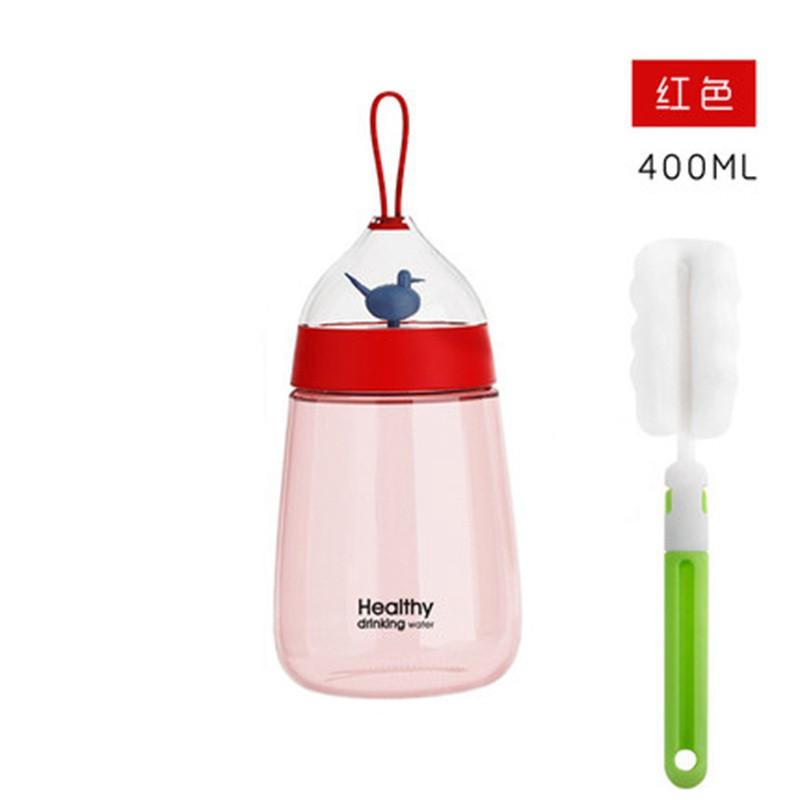 创意便携学生随手杯可爱塑料杯韩版防漏带盖水瓶男女夏季水杯