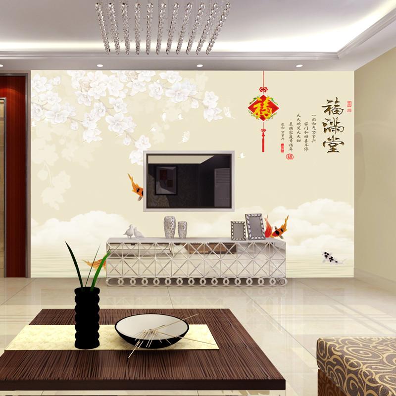 徐健 电视背景墙壁纸自粘简约现代客厅壁画5d立体影视