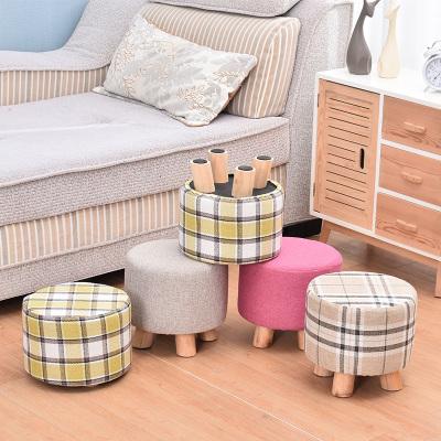 實木換鞋凳小凳子時尚小板凳創意家用成人圓凳客廳茶幾凳沙發凳