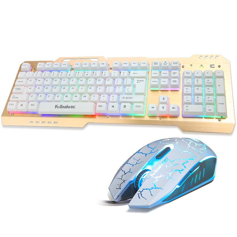 蝰蛇k16 网吧电竞彩色背光半机械金属游戏键盘有线悬浮式键帽 灯光可