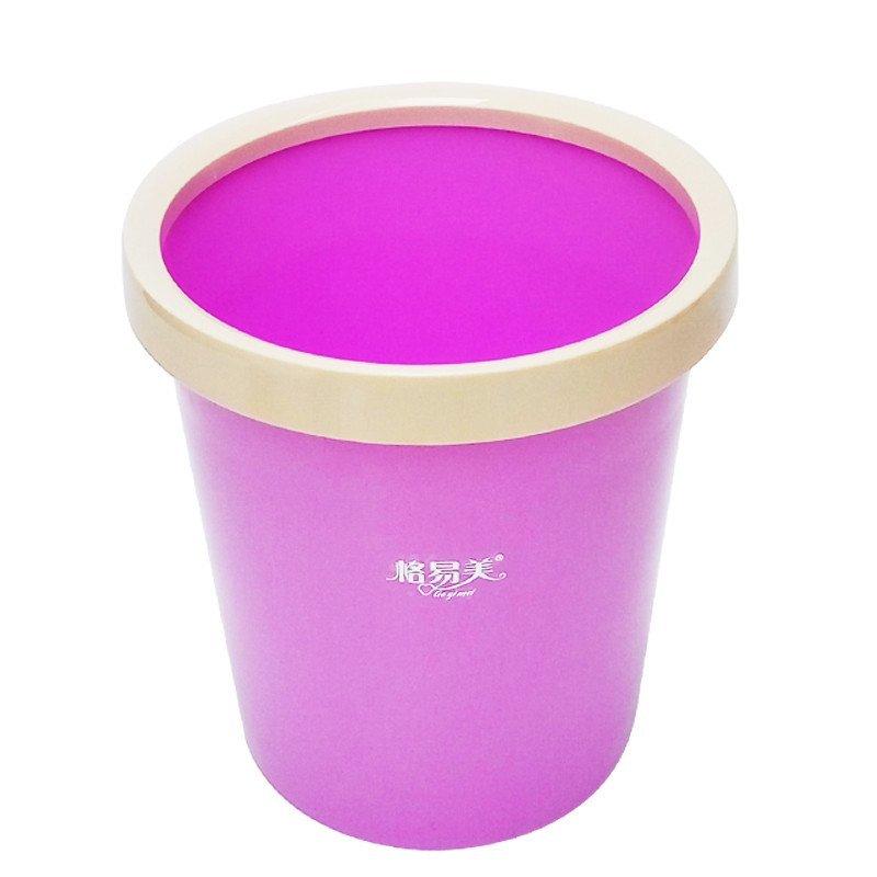 无盖圆形垃圾桶 大号 卫生间厨房厕所垃圾桶收纳桶清洁桶 带压环垃圾