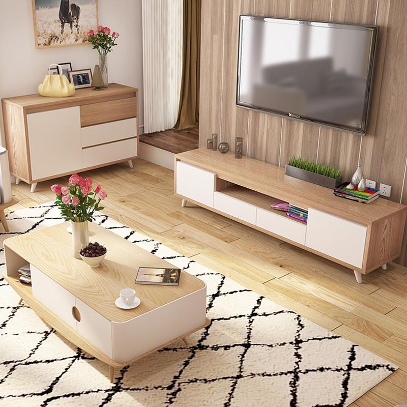 斯品家居 電視柜茶幾沙發組合 小戶型實用客廳套裝