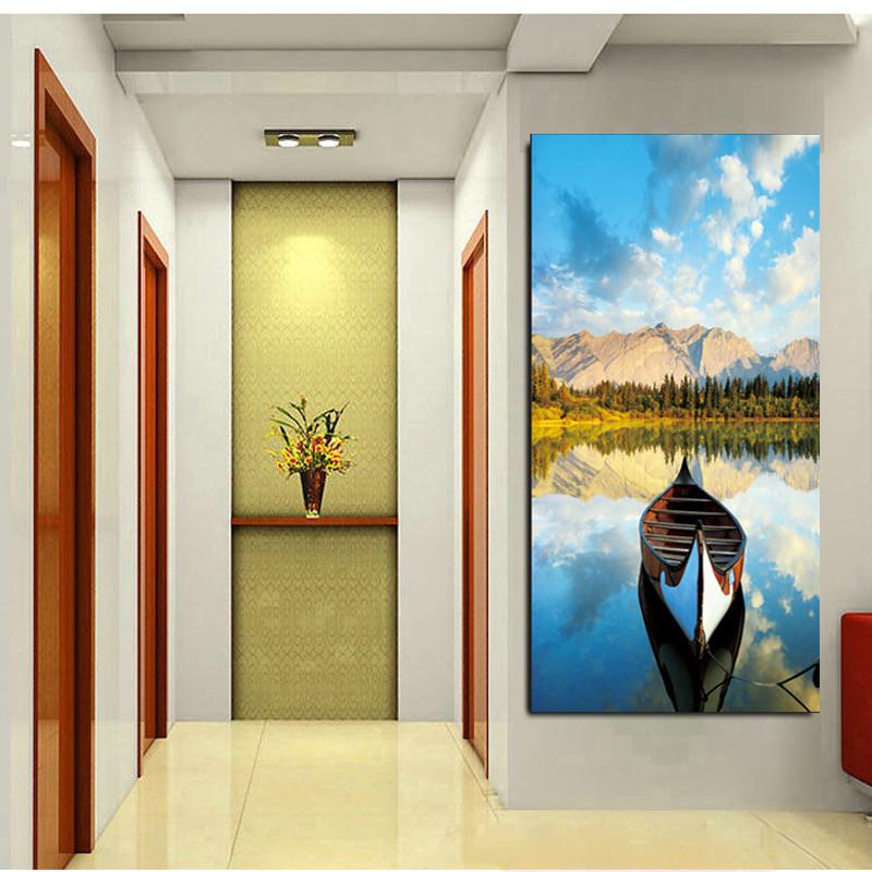 沐坤 玄关装饰画竖版走廊过道单幅挂画现代简约客厅卧室餐厅风景壁画