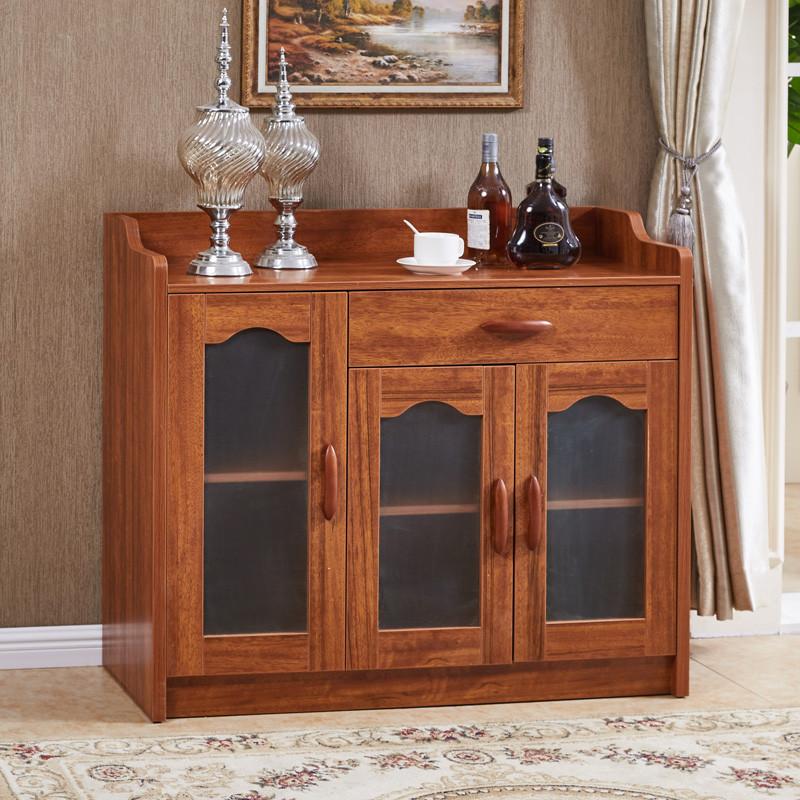 baymak实木色 餐边柜柜子储物柜茶水柜现代 简约客厅碗柜厨房柜餐柜边