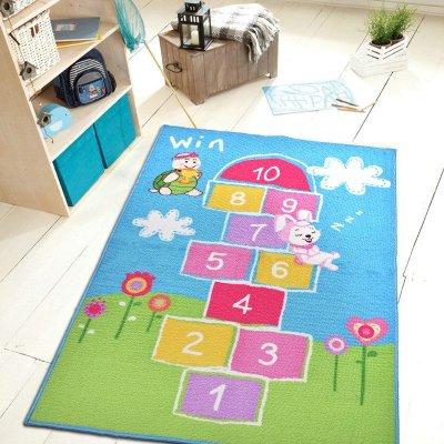捷成地毯 兒童可愛卡通圖案游戲跳房子丟沙包 防滑 小女孩跳房子地毯