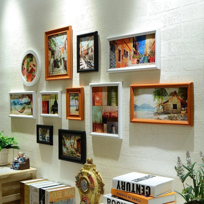卧室挂墙照片墙 创意影楼婚纱照相框墙组合