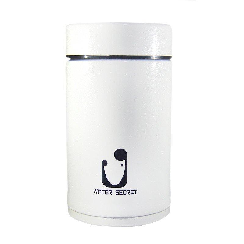 茶杯水杯真空迷你 不锈钢 陶瓷内胆 保温杯白色280ml陶瓷水杯