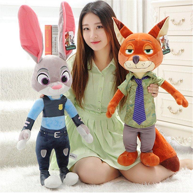 疯狂动物城公仔毛绒玩具娃娃狐狸尼克兔子朱迪女生
