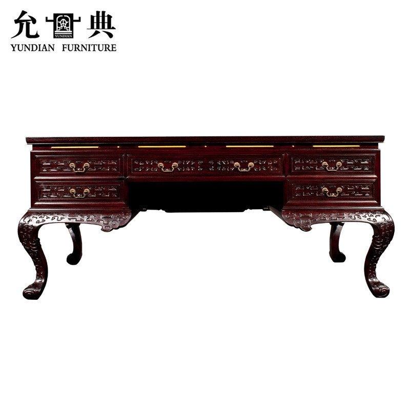 明清书桌的榫卯结构图