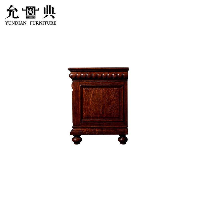 允典红木家具 花梨木帝国工匠矮柜 欧式古典 卧室电视