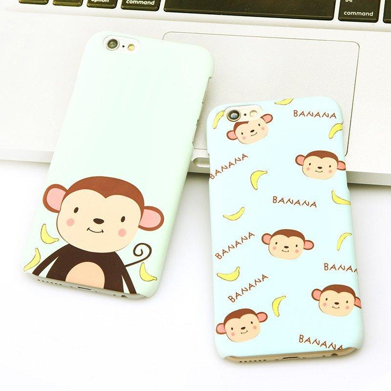 魔胄香蕉猴子iphone6手机壳磨砂创意苹果6splus防摔可爱卡通硬壳