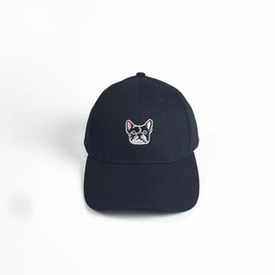 帽子女夏天韩国原宿ulzzang可爱小狗弯檐帽刺绣鸭舌帽