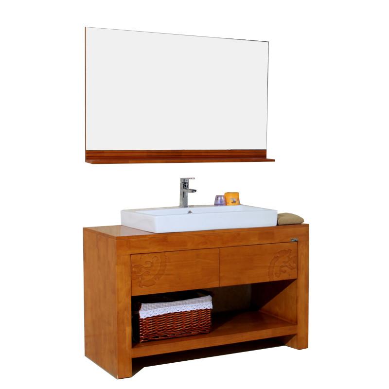 新中式卫浴柜 落地式洗手