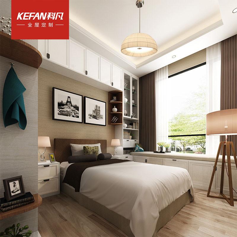科凡全屋卧室组合家具定制 整体现代简约衣柜空间定做