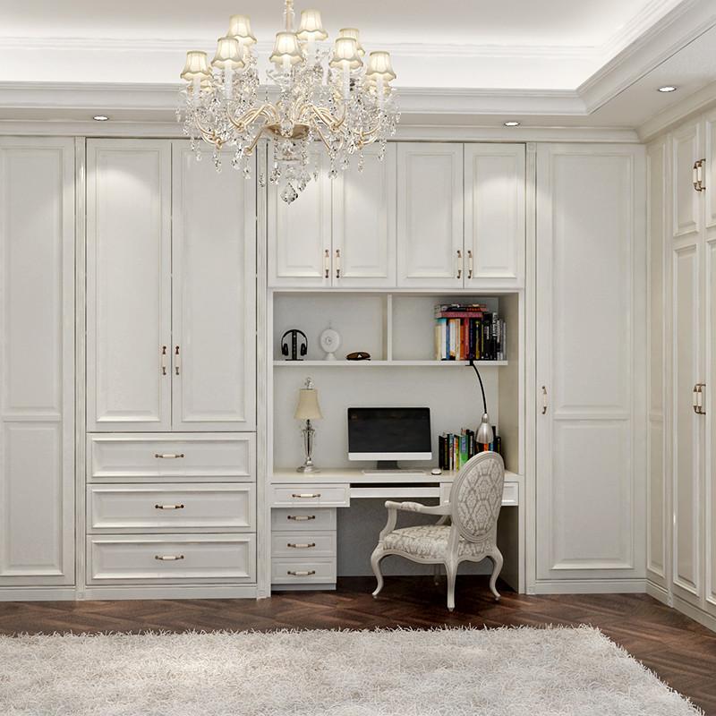 科凡整体田园简约木质定制大衣柜 定做欧式卧室成套家具组合 定制家具