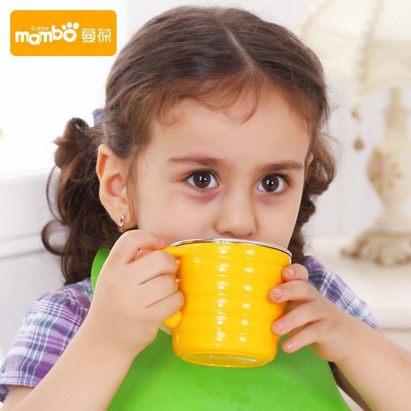 蔓葆 蜜罐儿童水杯不锈钢餐具小学生口杯宝宝喝水杯子