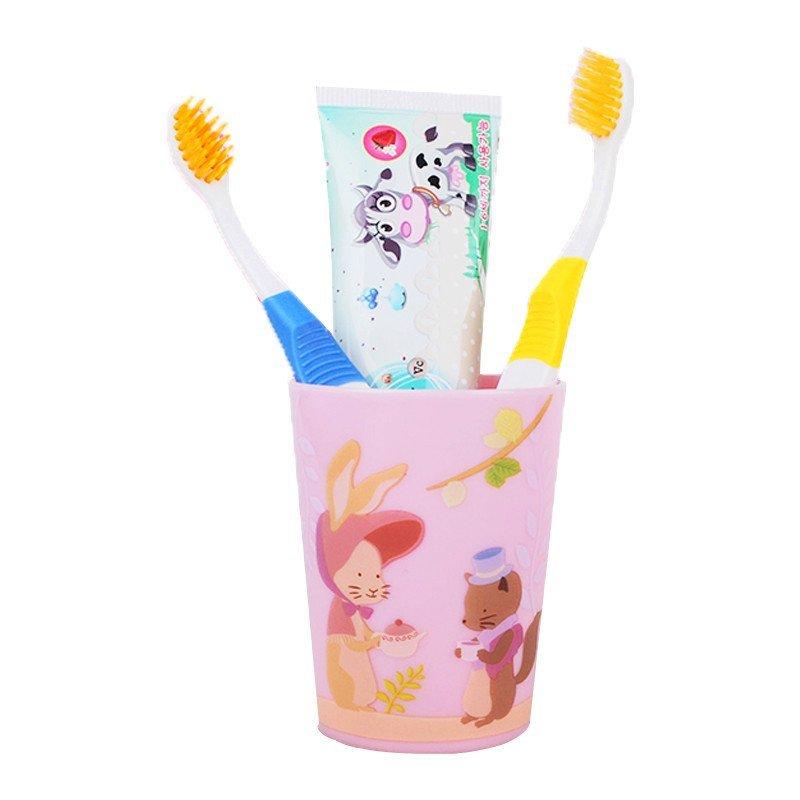 """欧志姆 o-zone""""8无""""长牙呵护儿童套装(牙膏 牙刷 牙缸"""