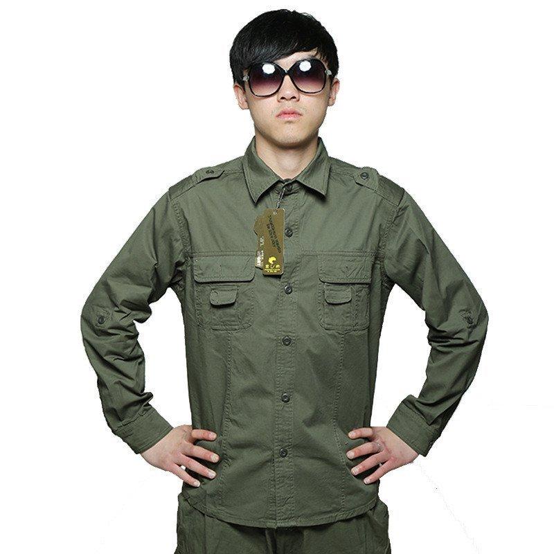 户外军迷作训服套装 长袖劳保工作服速干衣 透气工装衬衣