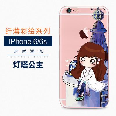 iphone6/6s手机壳防摔全包硅胶透明卡通磨砂6